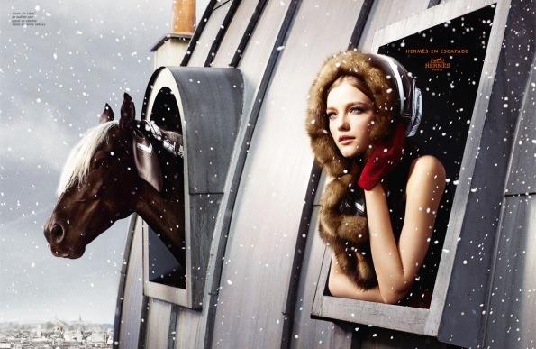 Hermes print ad horse 2006
