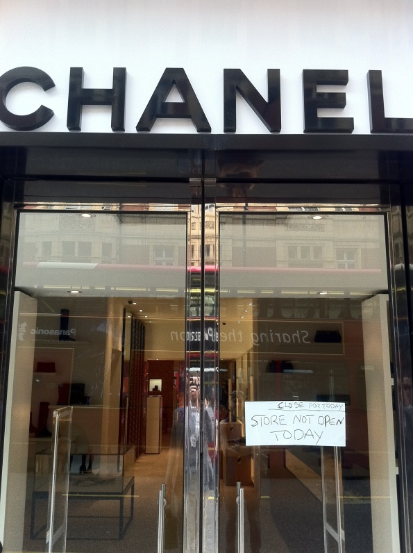 Chanel Sloane Street London sign fail