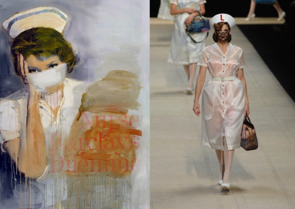 Richard Prince's oft-repeated Nurse motif was used for the Spring/Summer '08 Vuitton show